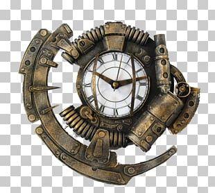 Steampunk Floor & Grandfather Clocks Kit-Cat Klock Digital Clock PNG