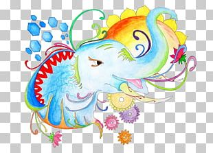 Drawing Elephant Watercolor Painting Sketch PNG