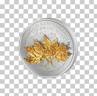 Gold Leaf Silver Maple Leaf Coin PNG