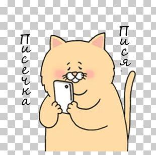 Whiskers Telegram Cat Sticker Messaging Apps PNG