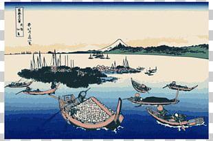 Thirty-six Views Of Mount Fuji The Great Wave Off Kanagawa Musashi Province Edo PNG