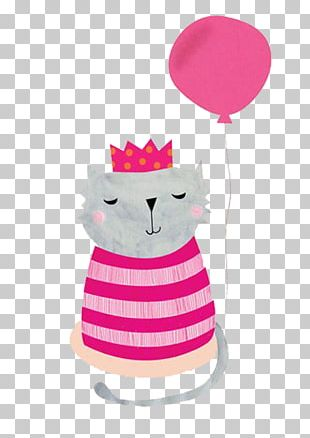 Cat Kitten Drawing Birthday Illustration PNG