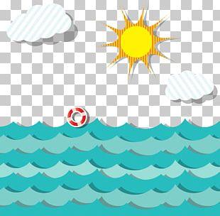 Cartoon Ocean Scene PNG