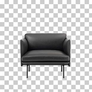 Wing Chair Couch Leather Upholstery Textile PNG