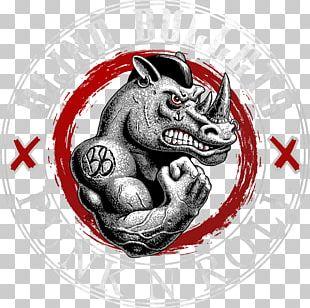 Rhinoceros Logo T-shirt Animal Font PNG