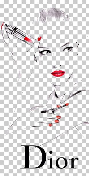 Christian Dior SE Lipstick Fashion Drawing Illustration PNG