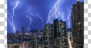 Hong Kong Lightning Sky Thunderstorm PNG
