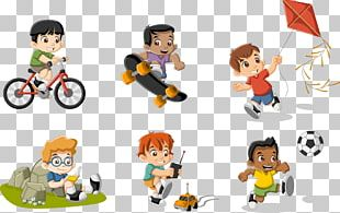 Cartoon Play Child Illustration PNG