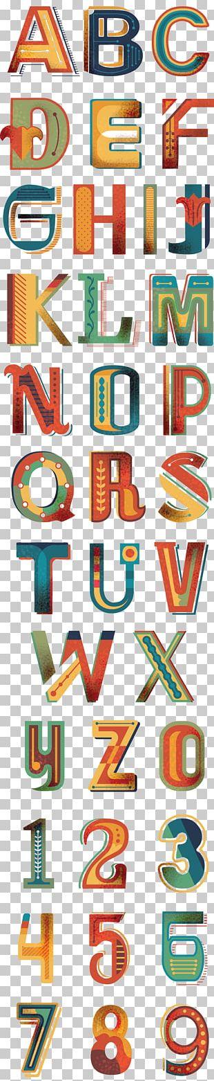 Graphic Design Poster Alphabet Font PNG