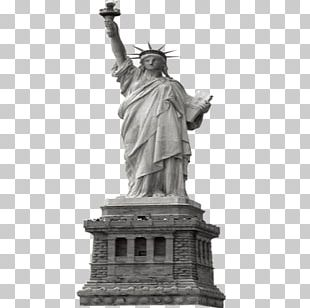 Statue Of Liberty Eiffel Tower New York Harbor PNG