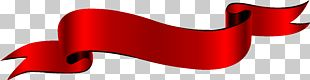 Label Red Ribbon Silk Banner PNG