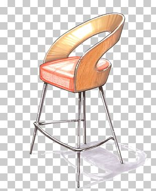 Chair Bar Stool Watercolor Painting Sketch PNG