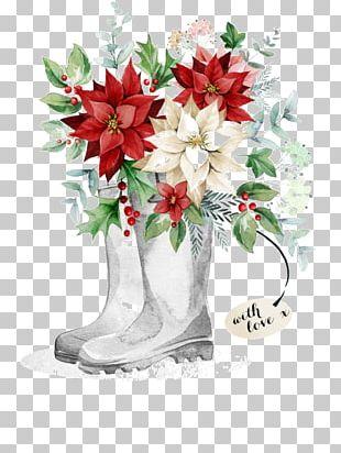 Christmas Card Floral Design Flower PNG