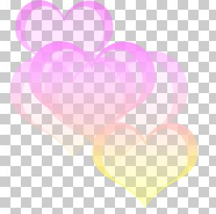 Heart Pastel Bokeh Color PNG