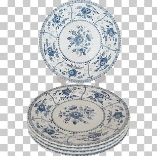 Plate Ceramic Platter Blue And White Pottery Bowl PNG