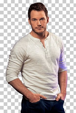 Chris Pratt White Tshirt PNG