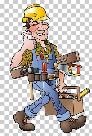 Cartoon Carpenter Drawing Illustration PNG