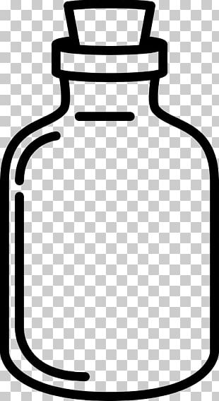 Drawing Glass Coloring Book Black And White Bottle PNG