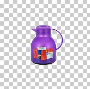 Household Water Pearl Purple Glass Liner Thermos PNG
