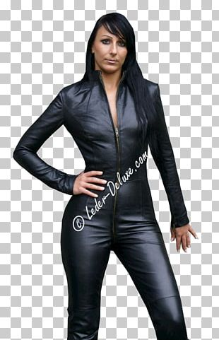 Leather Jacket Catsuit Clothing PNG