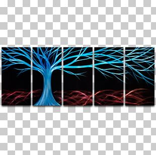 Little Trees Work Of Art Acrylic Paint PNG