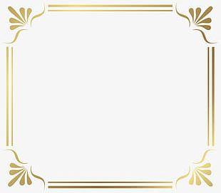 Golden French Border PNG