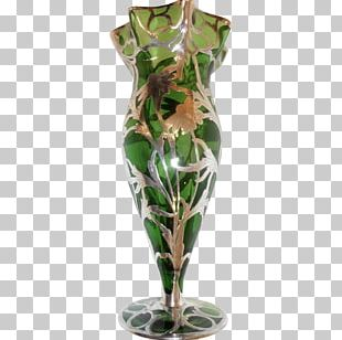 Vase Silver Overlay Sterling Silver Glass PNG
