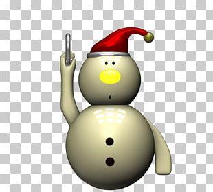 3D Computer Graphics Snowman PNG