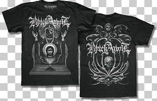 T-shirt Black Anvil Hail Death As Was Logo PNG