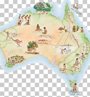 Prehistory Of Australia Map Quinkan Rock Art Illustration PNG