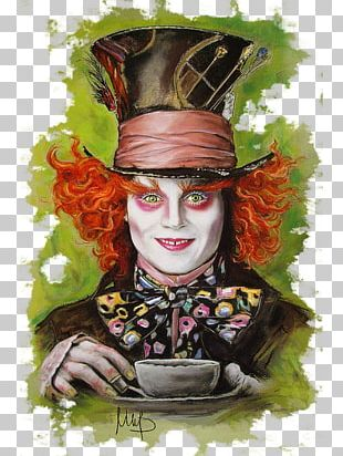The Mad Hatter Jack Sparrow Alice In Wonderland Art Drawing PNG