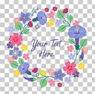 Floral Design Wreath Flower Illustration Text PNG