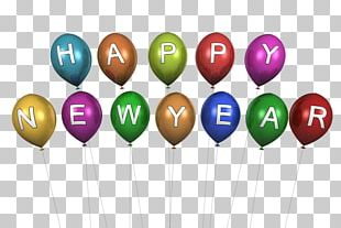 Happy New Year Balloons PNG