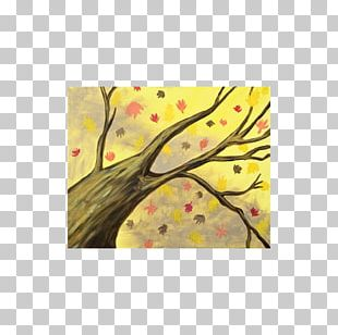 Sip And Paint Carolina Beach Art YouTube Autumn Leaf Color Yellow PNG