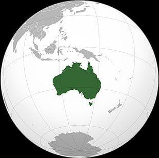 Mainland Australia Papua New Guinea Antarctica Map PNG