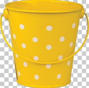 Polka Dot Bucket Watering Cans Pattern PNG