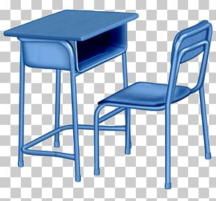 Table Chair Furniture School Bench PNG