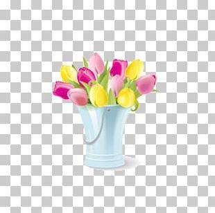 Floral Design Vase PNG