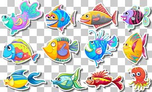 Deep Sea Fish Cartoon Illustration PNG