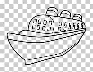 Coloring Book Drawing Ocean Liner Boat PNG