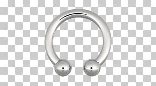 Barbell Earring Body Piercing Surgical Stainless Steel Material PNG