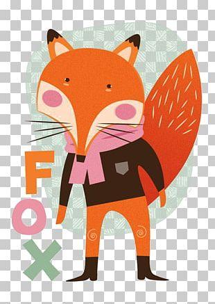 Cartoon Fox Mr. Fox Poster Illustration PNG