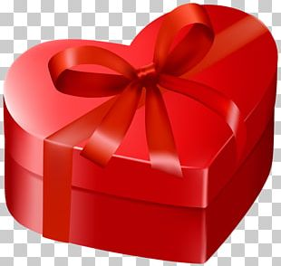 Valentine's Day Gift Heart Box PNG