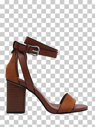 Sandal Shoe Heel Suede Ankle PNG