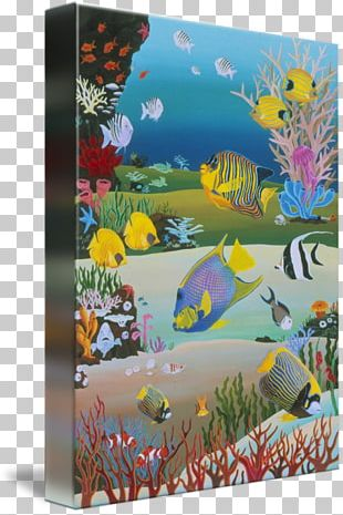 Art Coral Reef Sea Painting PNG