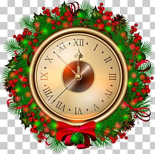 Christmas Decoration Clock Countdown PNG