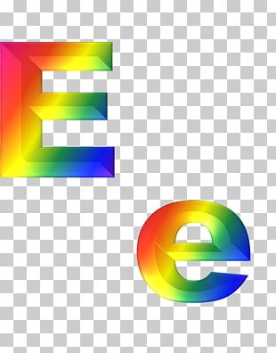 Letter Alphabet Rainbow PNG
