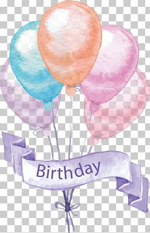 Birthday Cake Greeting Card Balloon Party PNG