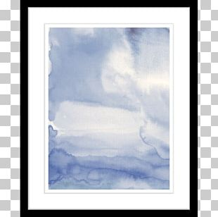 Window Frames Blue Watercolor Painting PNG