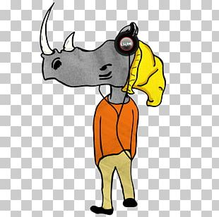 Cattle Character Cartoon PNG